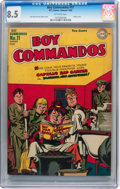 Golden Age (1938-1955):War, Boy Commandos #11 (DC, 1945) CGC VF+ 8.5 Off-white pages....