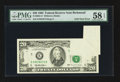 Error Notes:Foldovers, Fr. 2081-E $20 1995 Federal Reserve Note. PMG Choice About Unc 58EPQ.. ...