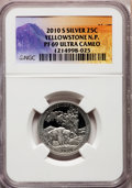 Proof National Parks Quarters, 2010-S 25C Yellowstone National Park Silver PR69 Ultra Cameo NGC.PCGS Population (1468/515). (#418834...