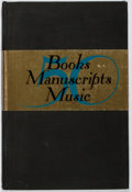 Books:Books about Books, Scribner Book Store. 50 Books, Manuscripts, Music. Scribner, ca. 1945. First edition, first printing. Offsetting. In...