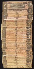 Confederate Notes:1864 Issues, T68 $10 1864 Twenty-four Examples.. ... (Total: 25 notes)
