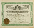 Baseball Collectibles:Others, 1901 Boston Red Sox Stock Certificate Issued to Henry J.Killilea....