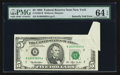 Error Notes:Foldovers, Fr. 1982-B $5 1993 Federal Reserve Note. PMG Choice Uncirculated 64EPQ.. ...