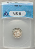 Seated Dimes: , 1888 10C MS61 ANACS. NGC Census: (13/236). PCGS Population(13/237). Mintage: 5,495,655. Numismedia Wsl. Price for problem ...