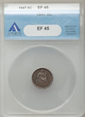 Seated Half Dimes: , 1847 H10C XF45 ANACS. NGC Census: (3/157). PCGS Population(12/155). Mintage: 1,274,000. Numismedia Wsl. Price for problem ...