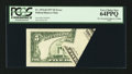 Error Notes:Foldovers, Fr. 1974-H $5 1977 Federal Reserve Note. PCGS Very Choice New64PPQ.. ...