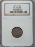 Indian Cents, 1871 1C VG10 Brown NGC. NGC Census: (11/437). PCGS Population(20/532). Mintage: 3,929,500. Numismedia Wsl. Price for probl...