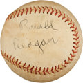 Autographs:Baseballs, 1980's President Ronald Reagan Single Signed Baseball. ...