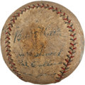 Autographs:Baseballs, 1927 New York Yankees Partial Team Signed Baseball with Ruth, Gehrig....