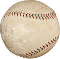 Baseball Collectibles:Balls, 1925 World Series Game Seven Used Baseball Signed by Pittsburgh Pirates....