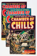 Golden Age (1938-1955):Horror, Chamber of Chills #21, 22, and 24 Group (Harvey, 1954).... (Total:3 Comic Books)