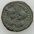 Ancients:Roman Provincial , Ancients: MOESIA INFERIOR. Marcianopolis and Nicopolis. Elagabalus(AD 218-222). Lot of 3 Æ.... (Total: 3 coins)