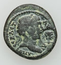 Ancients:Roman Provincial , Ancients: MYSIA. Pergamum. Trajan (AD 98-117). Very rare provincialÆ, with Caracalla countermark. Æ (20mm, 3.99 gm)....
