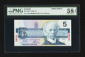 Canadian Currency: , BC-56aS $5 1986 Specimen. ...