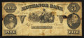 Obsoletes By State:Arkansas, Helena, AR- Exchange Bank $5 circa 1861 Rothert 279-1. ...