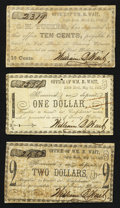 Obsoletes By State:Arkansas, Little Rock, AR- Wm. B. Wait, S.H. Tucker and Wm. B. Wait 1862 Scrip.. ... (Total: 3 notes)