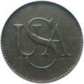 Colonials, (1785) COPPER Bar Copper MS61 Brown NGC....