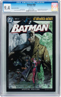 Modern Age (1980-Present):Superhero, Batman #608 Retailer Incentive Edition (DC, 2002) CGC NM 9.4 Whitepages....