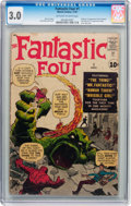 Silver Age (1956-1969):Superhero, Fantastic Four #1 (Marvel, 1961) CGC GD/VG 3.0 Off-white to whitepages....