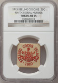 Keeling Cocos, Keeling Cocos: British Territory 25 Cents Ivory Token 1913, ...