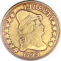 Early Eagles, 1799 $10 Large Stars Obverse Fine 15 PCGS. BD-10, R.3....