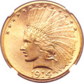 Indian Eagles, 1914-D $10 MS66+ NGC. CAC....