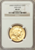 Modern Bullion Coins, 2008-W $25 Half-Ounce Gold Buffalo MS69 NGC. Ex: .9999 Fine. NGCCensus: (0/0). PCGS Population (374/302). (#399930)...