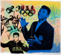 Boxing Collectibles:Memorabilia, Circa 2000 Muhammad Ali Signed Artwork by Steve Kaufman....