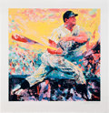 Baseball Collectibles:Others, 1990's Mickey Mantle Serigraph by LeRoy Neiman....