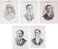 Baseball Cards:Lots, 1899 - 1900 M101-1 Sporting News Supplements Collection (5). ...