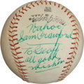 "Autographs:Baseballs, Circa 1960 ""Wahoo Sam"" Crawford Single Signed Baseball...."