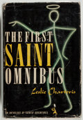 Books:Mystery & Detective Fiction, Leslie Charteris. The First Saint Omnibus. Crime Club, 1939.First edition, first printing. Offsetting. Price-cl...