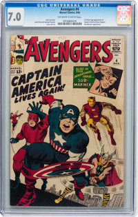 The Avengers #4 (Marvel, 1964) CGC FN/VF 7.0 Off-white to white pages