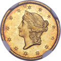 Gold Dollars, 1849-C G$1 Closed Wreath MS64 NGC. Variety 1....