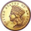 Proof Three Dollar Gold Pieces, 1867 $3 PR63 Deep Cameo PCGS. CAC....