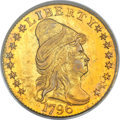Early Quarter Eagles, 1796 $2 1/2 Stars MS63 PCGS Secure. BD-3, High R.5....