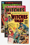 Golden Age (1938-1955):Horror, Witches Tales Group (Harvey, 1951-52).... (Total: 5 Comic Books)