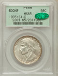 Commemorative Silver: , 1935/34-D 50C Boone MS65 PCGS. CAC. PCGS Population (236/224). NGCCensus: (152/175). Mintage: 2,003. Numismedia Wsl. Price...