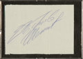 Autographs:Others, Circa 1970 Roberto Clemente Signed Cut Signature....