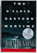Books:Mystery & Detective Fiction, John Dunning. SIGNED. Two O'Clock, Eastern Wartime.Scribner, 2001. Fingerprint edition, first printing, with mi...