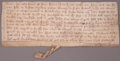 Prints, MANUSCRIPT LEGAL DOCUMENT. England, 1335. 3-1/2 x 9 inches (8.9 x22.9 cm). Manuscript, unframed. Elton Hyder III Collecti...