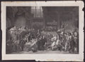 Prints, THE TRIAL OF WILLIAM LORD RUSSELL, AT THE OLD BAILEY . 1683.27-1/2 x 39 inches (69.9 x 99.1 cm). Engraving...