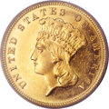 Three Dollar Gold Pieces, 1885 $3 MS64 PCGS....
