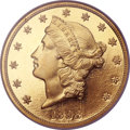 Proof Liberty Double Eagles, 1898 $20 PR67 Ultra Cameo NGC. CAC....