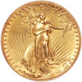 High Relief Double Eagles, 1907 $20 High Relief, Wire Rim MS63 NGC....