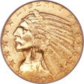 Indian Half Eagles, 1909-O $5 MS62 PCGS Secure. CAC....