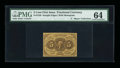 Fractional Currency:First Issue, Fr. 1230 5¢ First Issue Inverted Back PMG Choice Uncirculated64....