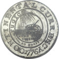 Colonials, 1776 $1 Continental Dollar, CURRENCY, Pewter, EG FECIT MS65 PCGS.Newman 3-D, W-8460, Low R.4....