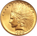 Indian Eagles, 1908-S $10 MS65 NGC. CAC....