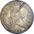 Early Half Dollars, 1794 50C -- Obverse Planchet Flaw, Improperly Cleaned -- NCS. AUDetails. O-104, R.5....